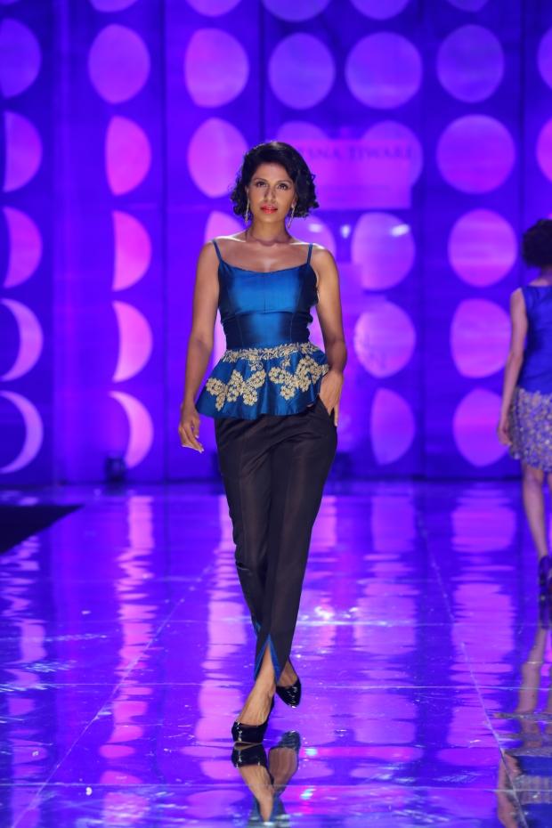 At the India Bridal Fashion Week - Model seen in Jyotsna Tiwari Collection 2