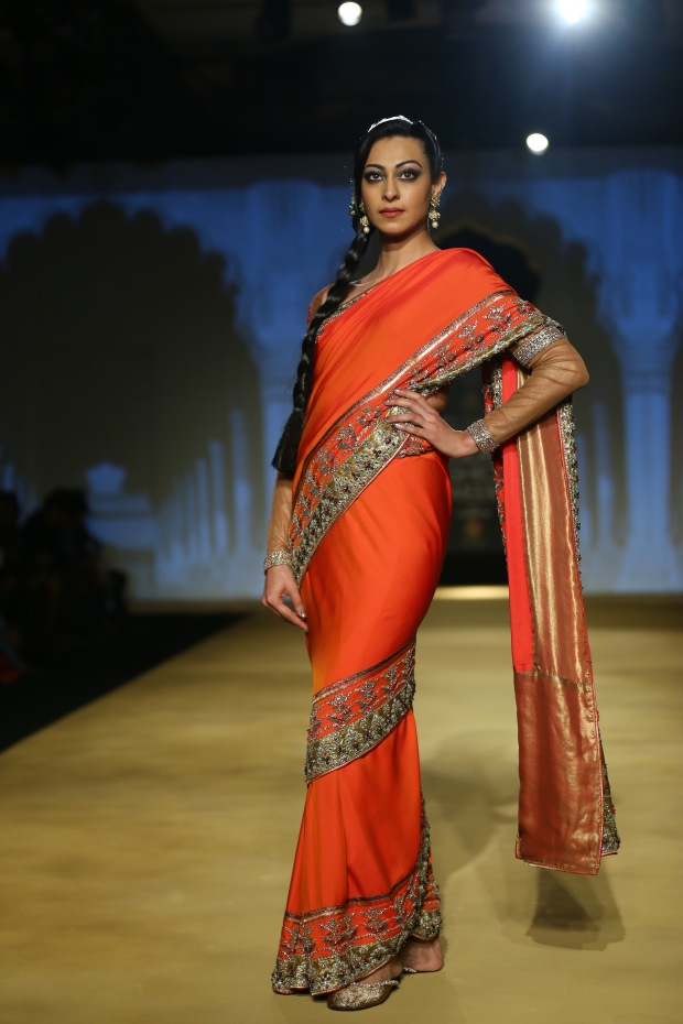 India Bridal Fashion Week Delhi 2013 - Model seen in bridal collection of  Ashima Leena_1