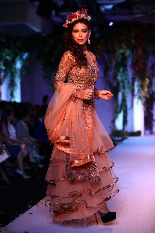 India Bridal Fashion Week Delhi 2013 - Model seen in Falguni & Shane's Collection_1